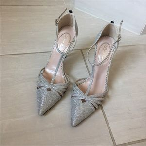 SJP Carrie T Strap Heels in Diamond size 37